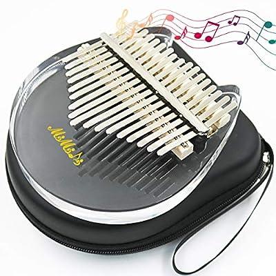 Amazon - Save 60%: Kalimba Thumb Piano 17 Keys, Portable Acrylic With Carry Bag Finger Piano, G…