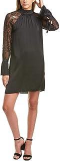 Michael Stars Women's Lace Mix Long Sleeve Shift Dress