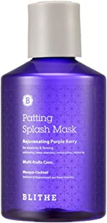 Blithe Patting Splash Mask Rejuvenating Purple Berry for Elasticity & Firming, 5.07 Fl Oz