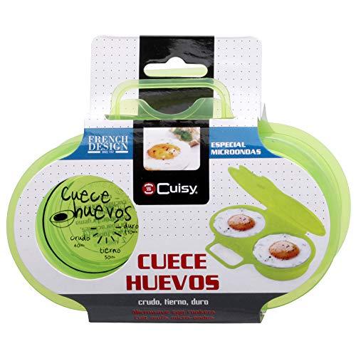Cuisy KC2152 - Dispositivo para cocinar huevos en las microondas, 2 unidades [colores surtidos]