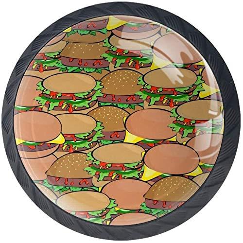 Burger Estilo magnífico gabinete de cerámica perillas Tire manijas para Muebles Armario cajón Armario Cocina baño