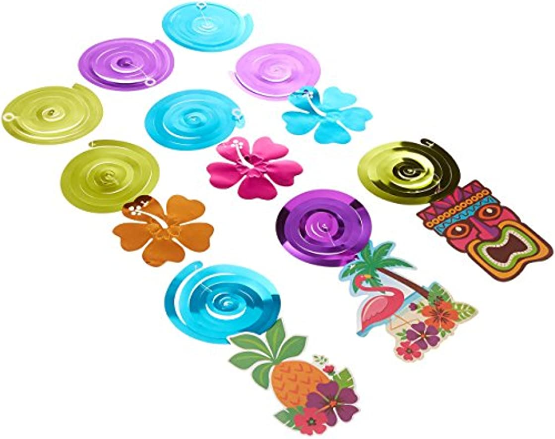 Amscan Summer Luau Party Foil Swirl Decorating Kit
