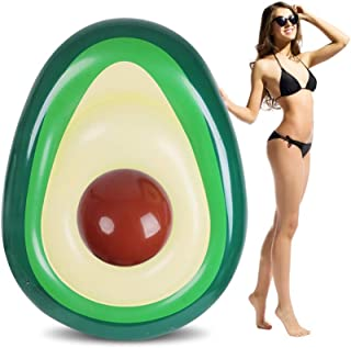 SUNBA YOUTH Pool Float, Avocado Inflatable Giant Float, Party Pool Lounger, Pool Raft, Swimming Pool Inflatable Toys for Adults & Kids (65 x52inch)