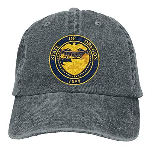 Männer Frauen Vintage Denim Stoff Baseball Cap Oregon Emblem Plain Cap