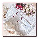 YUNGYE Calcetines de Lolita de corazón Dulce Calcetines Delgados de cáscara de Conos Femeninos en Verano sobre -thel - Rodilla consiguiendo Calcetines japoneses de Lolita