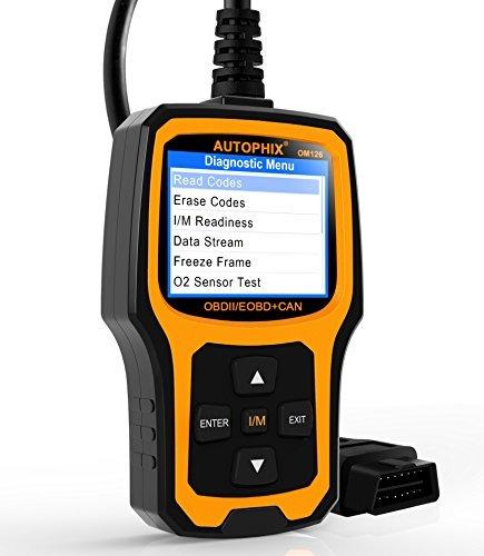 Autophix OM126 Valise OBD OBD2 Scanner Français Outils de Diagnostic Auto Multimarque Voiture Code Lecteur Car Code Reader Upgrade on Windows 7/8/10 Noir