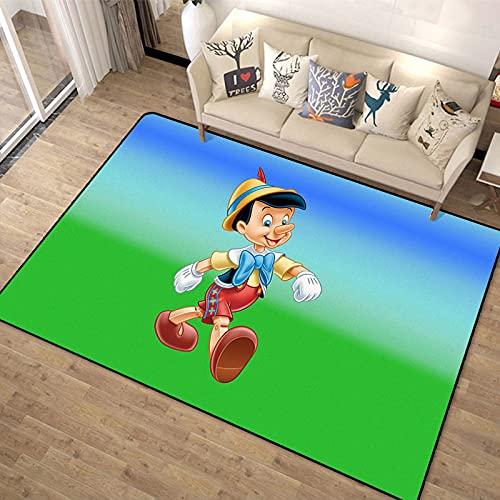 Alfombra Pinocho Dormitorio Sala De Estar Habitación De Los Niños Sofá De Dibujos Animados De Dibujos Animados Mesa De Centro Alfombra De Decoración De Piso Minimalista Moderna