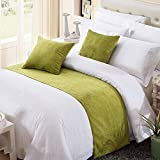 Twelve King Bed Scarf Runner Solid Color Chenille Soft No Fading Modern Bed Runner Bedding Scarf Protection