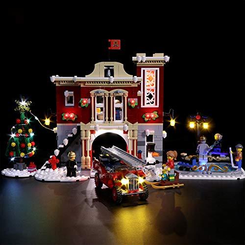 ADMLZQQ Led Lighting Kit for Estación de Bomberos de Winter Village - Compatible with Lego 10263 Building Blocks Model- Not Include The Lego Set