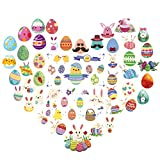 240er Kinder Tattoo mit Hasen Eier Motiv,36 Blättter Temporäre Kindertatoo für Ostern Feier Party Mitgebsel Geschenk Mädchen Jungen in 60 Design