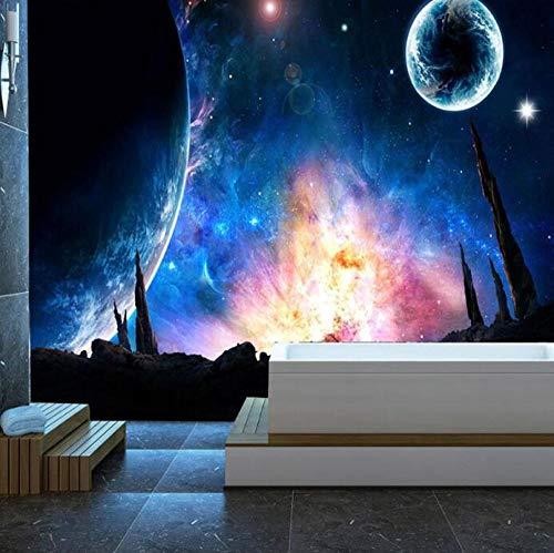 3D vliesbehang fotovlies premium fotobehang universum ster sky wandschilderij slaapkamer studie woonkamer sofa TV achtergrond wandschilderij behang wooncultuur 250*175 250 x 175 cm.