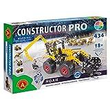 A ALEXANDER 2175 Constructor PRO Noah 5 in 1 Metall Bausatz Set, 434 Teile Metallbaukasten, Metallbausatz mit Fahrzeug, Werkzeug & Kunststoff Elementen,...