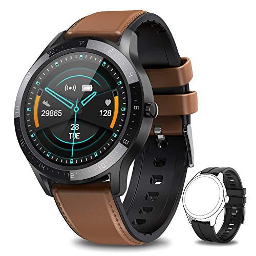 NAIXUES Montre Connectée Homme, Smartwatch Sport Podometre Cardiofrequencemètre 7 Modes d'entraînement, Montre Intelligente Etanche IP67 Trackers d'Activité pour iPhone Android