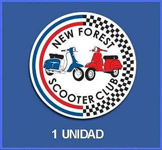 Ecoshirt LR-MLK2-WCJ5 Pegatinas Stickers Vespa Ref: Dp172 Aufkleber Autocollants Adesivi Moto Decals, 5 cm