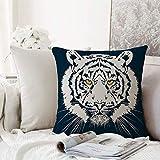 Kissenhülle Super Weich Home Decoration,Tiger, aggressive Darstellung eines riesigen, pelzigen,...
