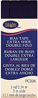 Wrights Double Fold Bias Tape, 1/2 by 3-Yard, BlackBerry