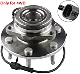 MOSTPLUS Wheel Bearing Hub Front Wheel Hub and Bearing Assembly 515036 for Chevy GMC with ABS 6 Lug ONLY for 4WD