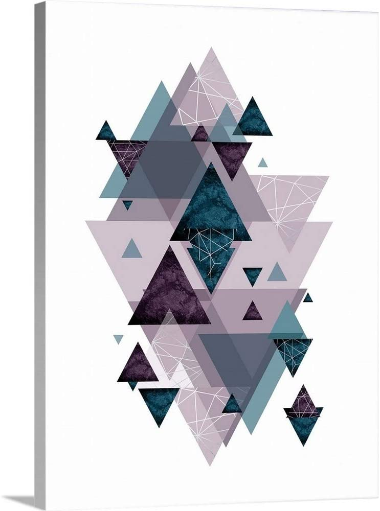 Max 90% OFF Geo Triangles SoftLuxe outlet Canvas Wall Art Artwork Print