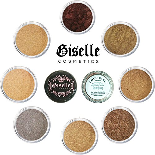 EyeShadow Palette - Mineral Makeup Eyeshadow Powder and Contouring Palette | Pure, Non-Diluted Shimmer Mineral Make Up in 8 Coco Hues and Shades