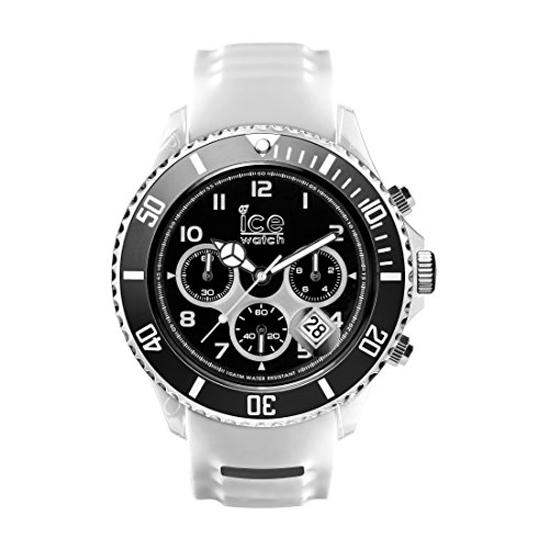 Ice-Watch - ICE sporty White Black - Men's wristwatch with silicon strap - Chrono - 001336 (Extra large)
