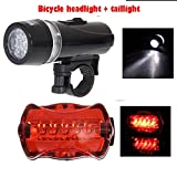 HOME CUBE® Waterproof Ultra Bright 5 LED Cycling Bicycle Light Set Bike Front