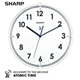 """Best Atomic Clocks - Sharp Atomic Analog Wall Clock – 10.5"""" Suspended Review"""