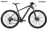 Bicicleta 29Whistle Mojag 1833monoscocca de carbono 11V, Black - Neon Yellow Matt, L - 21'