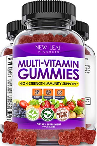 Multivitamin Gummies - Vegetarian - High Strength Multi vitamins for Adults - 14 Essential Vitamins & Minerals Supplement - GMO-Free, & Gluten-Free Vitamins C A D E B & Biotin + Zinc Iodine