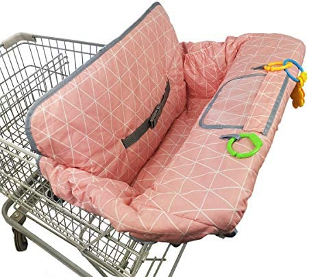 Shopping Cart Covers for Baby Girl Cotton High Chair Cover Toddler Grocery cart Cushion Infant product image