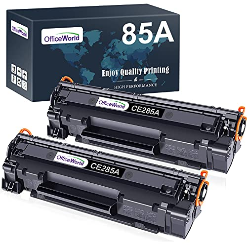 OFFICEWORLD CE285A 85A Reemplazo para HP 85A CE285A Cartucho de Toner para HP Laserjet Pro P1102 P1102w M1212nf M1212 M1217nfw M1132 M1136 P1505 P1505n M1522 M1522nf M1120 M1522n M1120n (2 Negro)