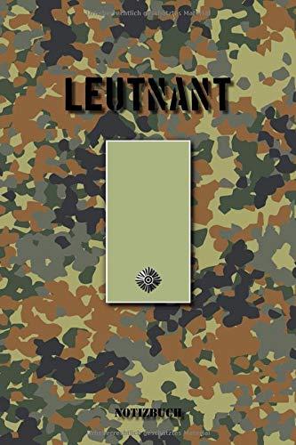 Leutnant: Kariertes Notizbuch / Tagebuch kariert | 15,24 x 22,86 cm (ca. DIN A5) | 120 Seiten