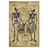 artboxONE Poster 30x20 cm Anatomie Menschen Skelett Love