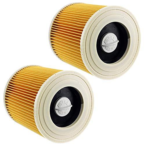 Filtros Lavables para Aspiradora Kärcher WD3 WD2 WD3.200 WD3300, Filtro Kärcher a2604 a2204 a2054 a2004 a2554 a2654 Filtro Húmedo y Seco, Amarillo