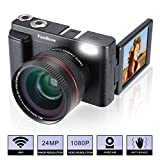 Camara de Fotos FamBrow Full HD 1080P 24MP Cámara Video Cámara Digital Camara Vlogging Cámara Compacta con Lente Gran Angular Pantalla Plegable