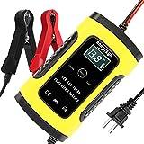 バッテリー 充電器 カーバッテリー バッテリーチャージャー 大電流 6A 12V兼用 電動自転車 コネクタ付 過電流保護 自動車 バイク用