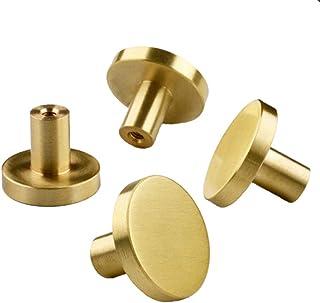 para puerta para decoraci/ón del hogar con tornillos 20 x 24 mm 4 tiradores redondos de armario color dorado