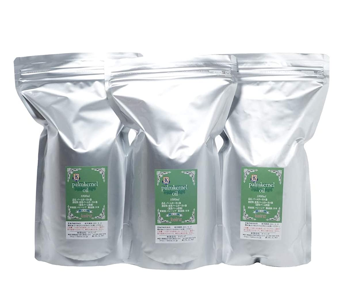 範囲法廷ファッション手作り石けん用 良質新鮮 パーム核(カーネル)オイル 1L ?3個セット(ラベルが新しくなりました) 鹸化価:245 原産国:マレーシア 日本製 固まっている時は袋をナイフでカットして固形オイルを簡単に取り出せます。 液体の時は袋のチャックの上をハサミでカットしてOK. 袋は燃えるゴミで捨てることが出来ます。