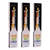 Color Drip Candles, 3-Pack (6 candles total)
