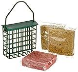 dobar 6proteinreiche Blocs de suif Graisse + 2Gratis Distributeur de Nourriture pour Oiseaux à Suspendre, ganzjähriges Graisse pour Oiseaux Sauvages, 1er Pack (1x 1.8kg)