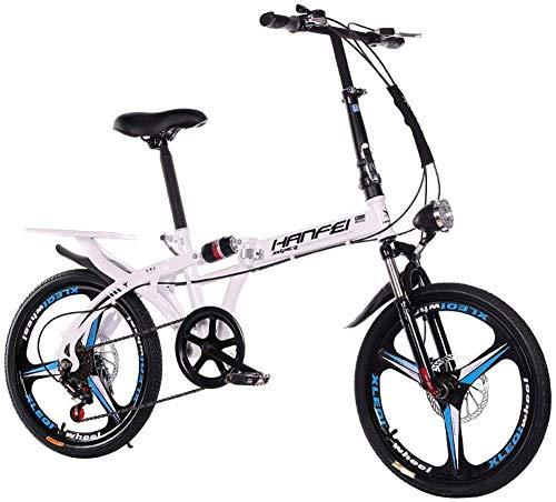 20 pulgadas a 16 pulgadas de plegado en moto - coche de Student for adultos plegable del coche for los hombres y mujeres de bicicletas plegables de amortiguación velocidad de la bicicleta 20 pulgadas
