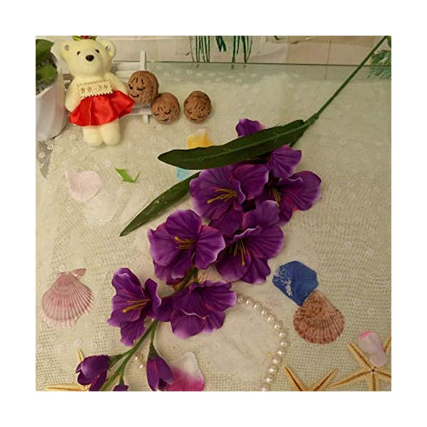 WBXYCG Flor de plástico de gladiolo de Flores Artificiales, orquídea de Espada de Flor Falsa, decoración de Boda…