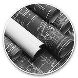 Impresionantes pegatinas de vinilo (juego de 2) 7,5 cm (bw) – Divertidas calcomanías de diseño para portátiles, tabletas, equipaje, libros de chatarra, neveras, regalo genial #38329