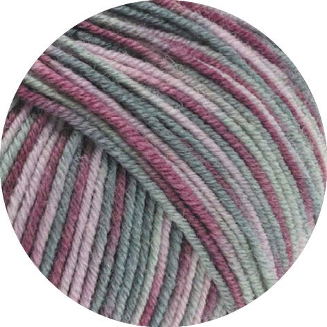 Lana Grossa Cool Wool Print 815 - Antikviolett/Altrosa/Hellgrau/Mittelgrau