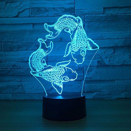 Nuit De Bande Dessinée Monsters Inc 3D Lampe De Nuit Pour Enfants Lampe De Visual Led Pour Lit Bébé Avec Commutateur À Couleur Changeante