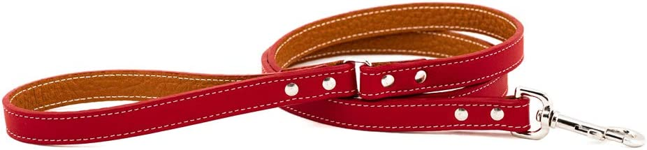 Cheap SALENEW very popular! Auburn Leathercrafters Tuscany Dog Leash Color: Red Size: 0.75