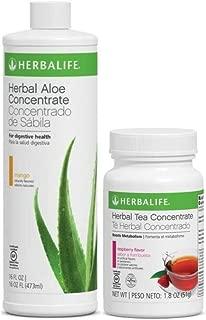 Herbalife Mango Herbal Aloe Concentrate + Raspberry Herbal Tea | Weight Loss Combo