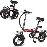 Bicicletas Eléctricas, Ligera Bicicleta plegable, pedales y PowerAssist bicicleta eléctrica, neumáticos de 14 pulgadas bicicleta eléctrica con motor 360W 14AH batería extraíble de litio, E-bici for ad
