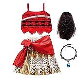 FINDPITAYA Niñas Vestido de Princesa Vaiana Cosplay Costume con...