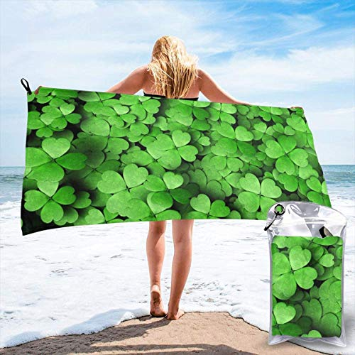 Gebrb Duschtücher,Badetücher,Strandtücher,St Patricks Day Microfiber Fast Drying Towels Suitable for Camping, Backpacking,Gym, Beach, Swimming,Yoga