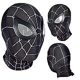 MODRYER Casque Spider Man Homecoming Masque Halloween Tête Couverte Film Props Superhero Cosplay Accessoires Déguisements Masque pour Le Carnaval d'halloween,Black-Adults